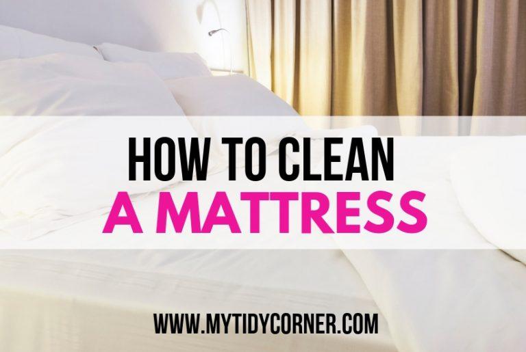 A Mattress - How to clean your mattress