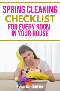 Spring cleaning checklist by room