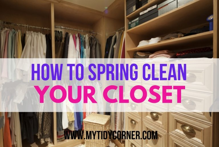 Spring cleaning closet