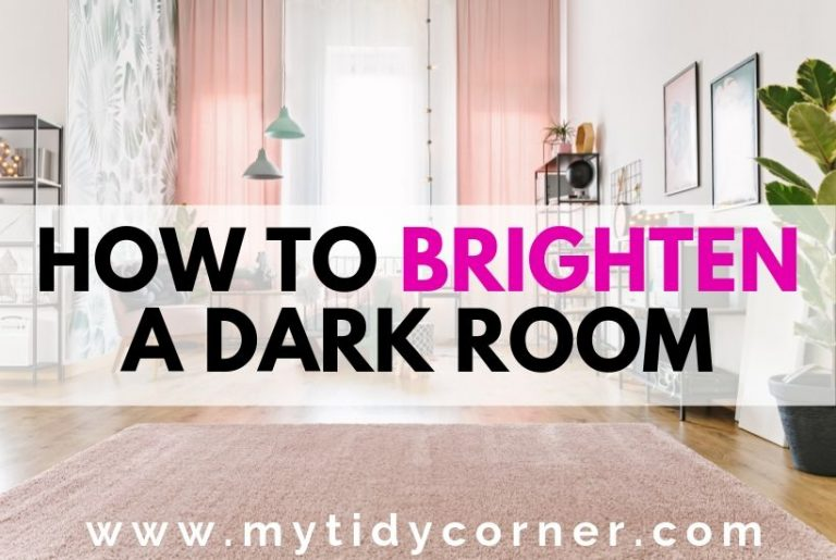 Image of a room with text how to brighten a dark room