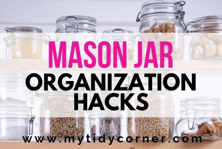 Mason jar organization Ideas
