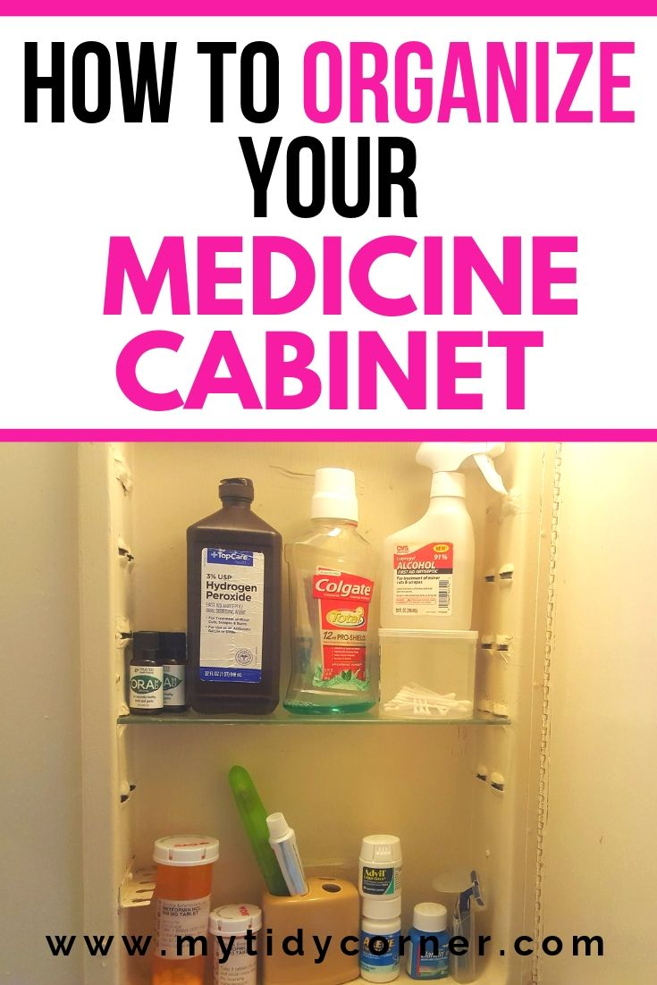 Medicine cabinet organization ideas