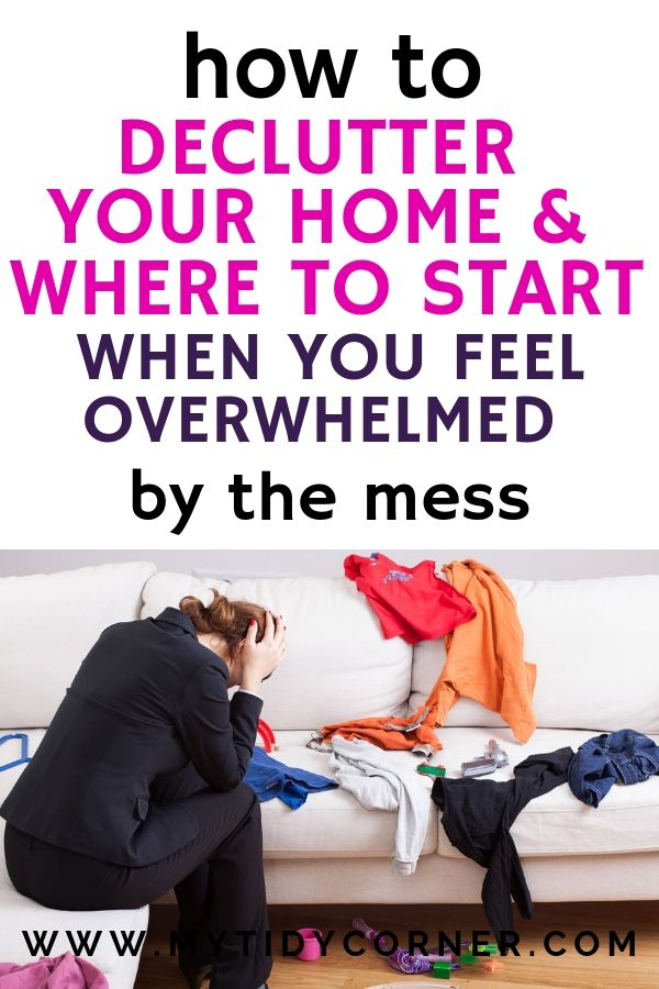 Where to start decluttering your home