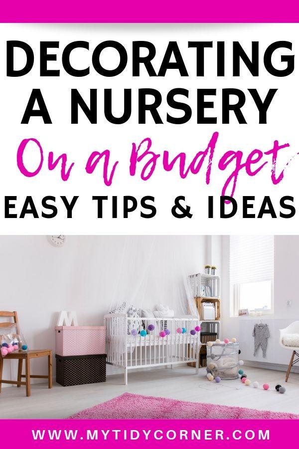 Budget friendly nursery ideas