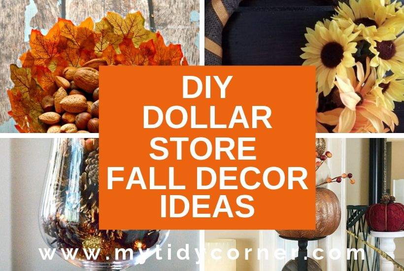 DIY Dollar Store fall decor ideas