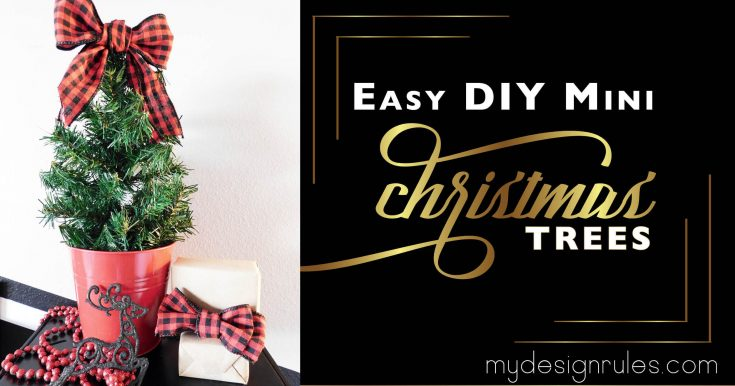 Make an Easy DIY Mini Tree from Faux Garland