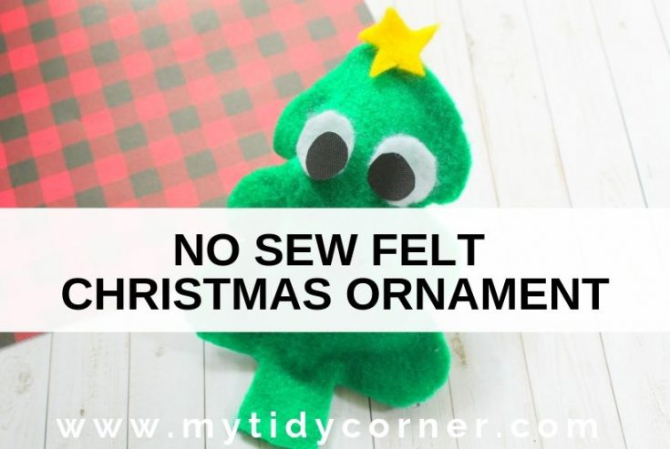 DIY no sew felt christmas tree ornament