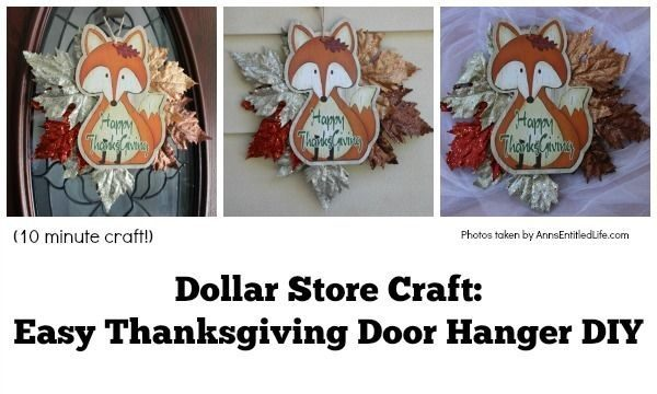 Dollar Store Craft: Easy Thanksgiving Door Hanger DIY