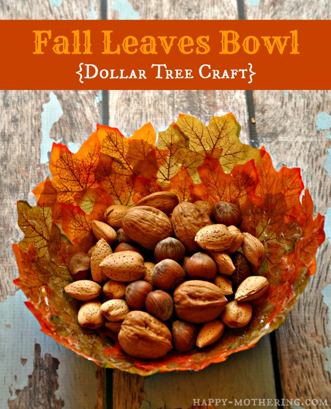 DIY Fall Leaves Bowls
