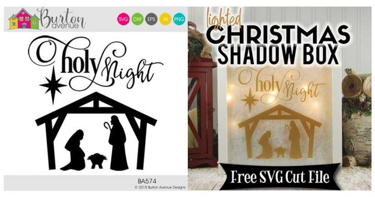 Lighted Christmas Shadow Box