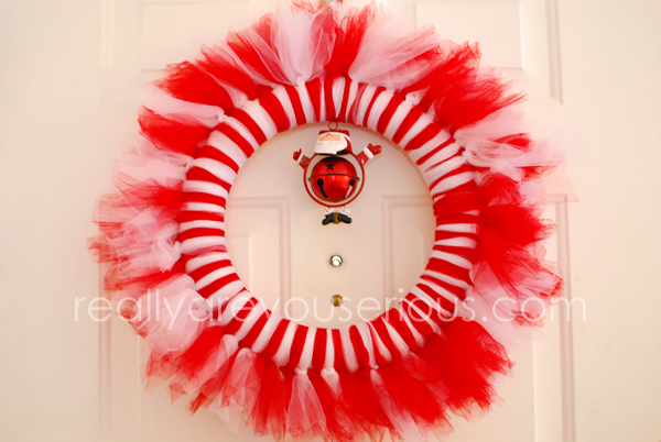 How to make a candy cane wreath • Really, Are You Serious?
