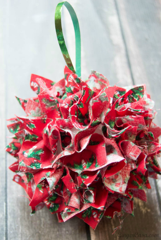 DIY Fabric Christmas Ornament - Great For Gifts and Kids' Crafts