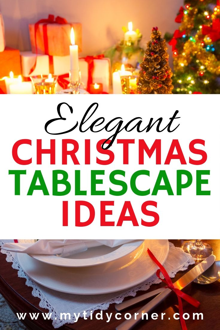 Elegant Christmas Table Decoration Ideas