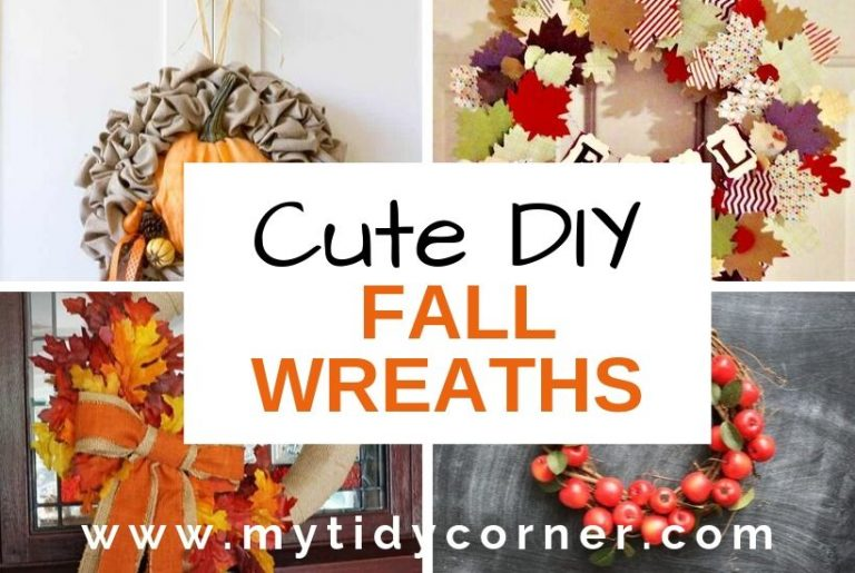 Cute DIY Fall wreaths for front door