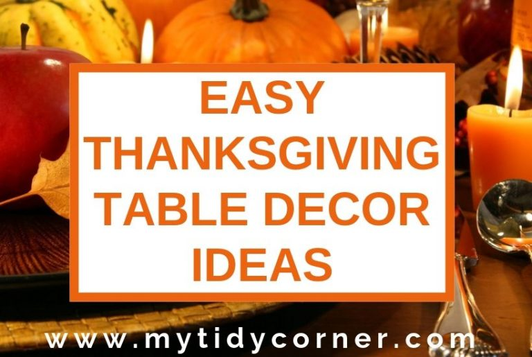 Easy Thanksgiving table decor ideas