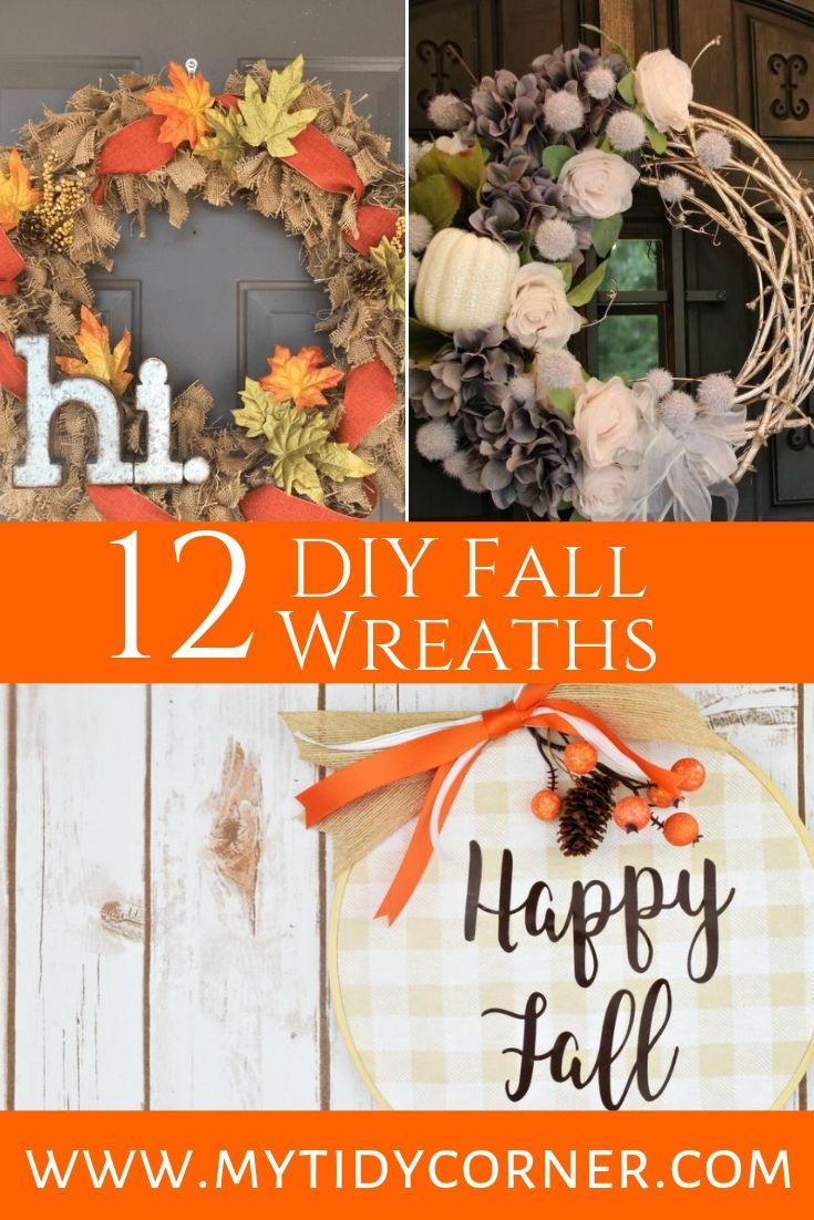 Fall door wreaths DIY