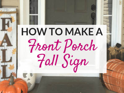 How to Make a DIY Front Porch Fall Sign | The Savvy Sparrow