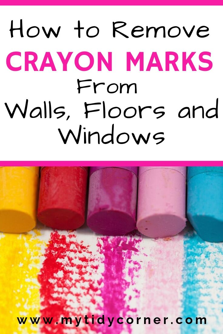 How to get crayon marks off of walls and floors