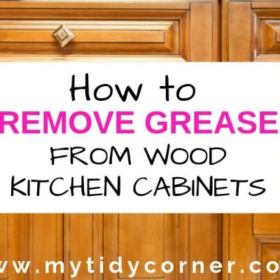 How to Remove Grease from Wood Kitchen Cabinets