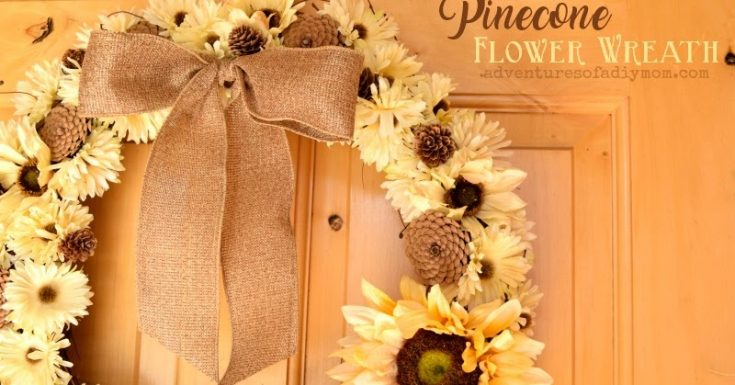How to Make a Fall Floral and Pinecone Wreath