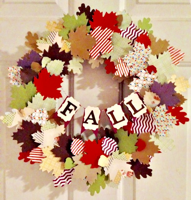 How To Make A Paper Leaf Fall Wreath With Cricut