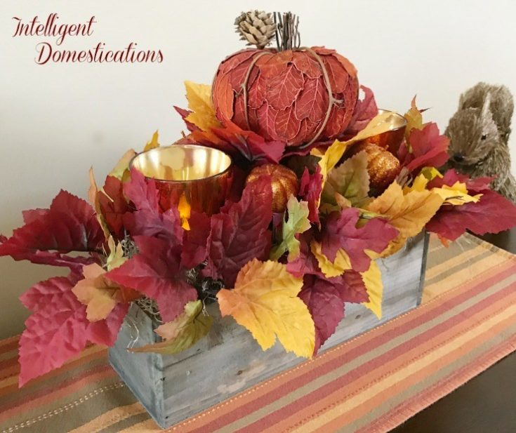 Rustic Fall Centerpiece DIY - Intelligent Domestications