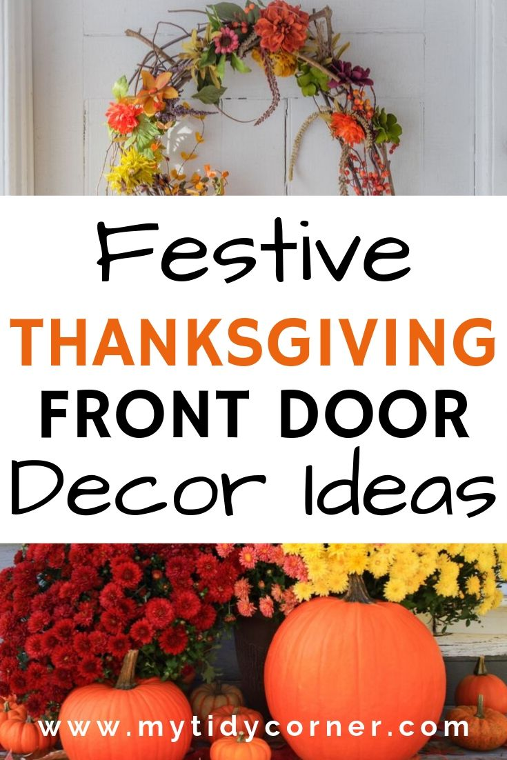 Thanksgiving door decor ideas