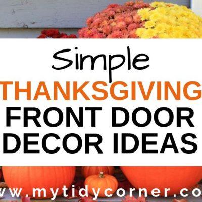 Thanksgiving Front Door Decoration Ideas