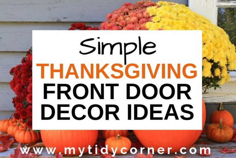 Thanksgiving front door decoration ideas