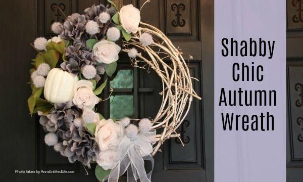 Shabby Chic Autumn Wreath