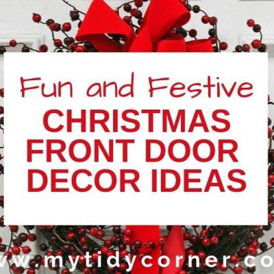 Christmas Front Door Decorating Ideas