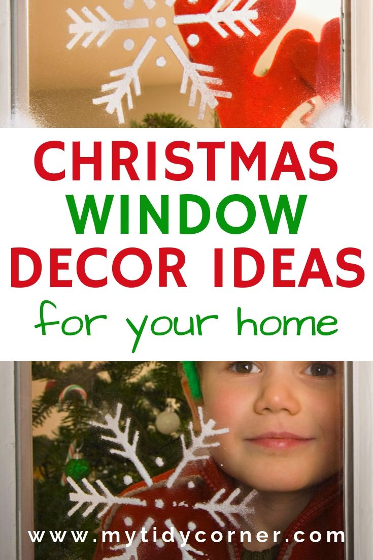 Christmas window decoration ideas for the home display