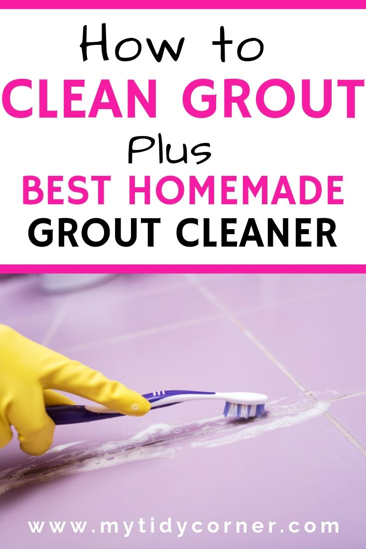 How to clean grout on tile floors and walls