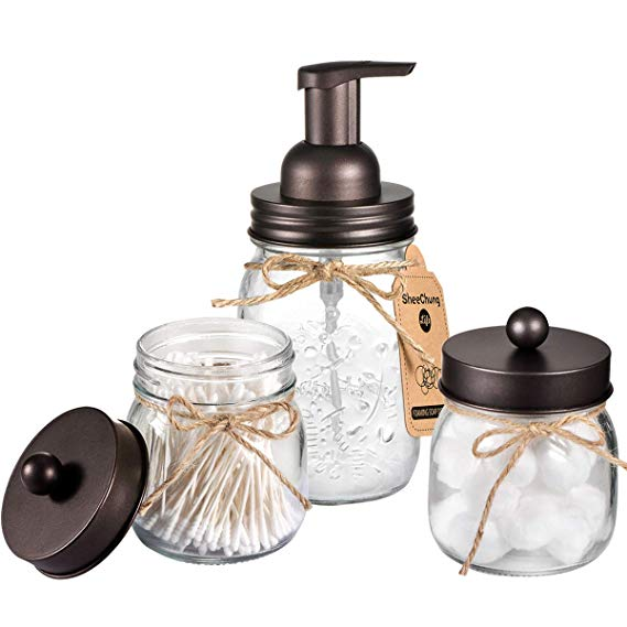 Mason Jar Bathroom Accessory Set