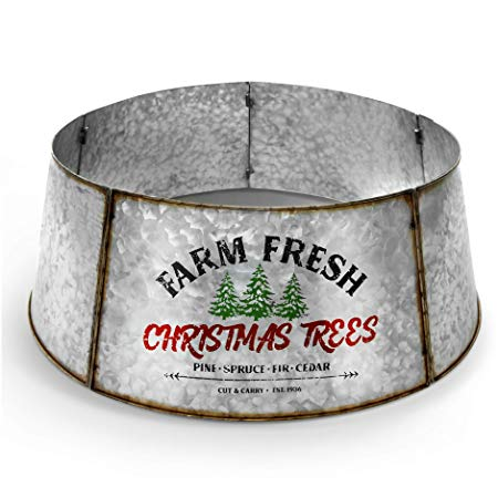 Galvanized Metal Christmas Tree Collar