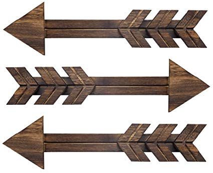 Rustic Wood Arrow Sign Wall Decor