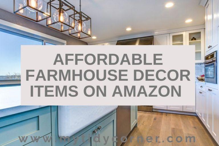 Affordable farmhouse decor on Amazon