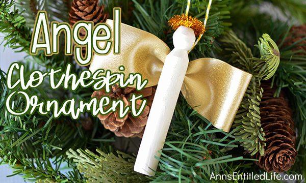 Angel Clothespin Ornament DIY