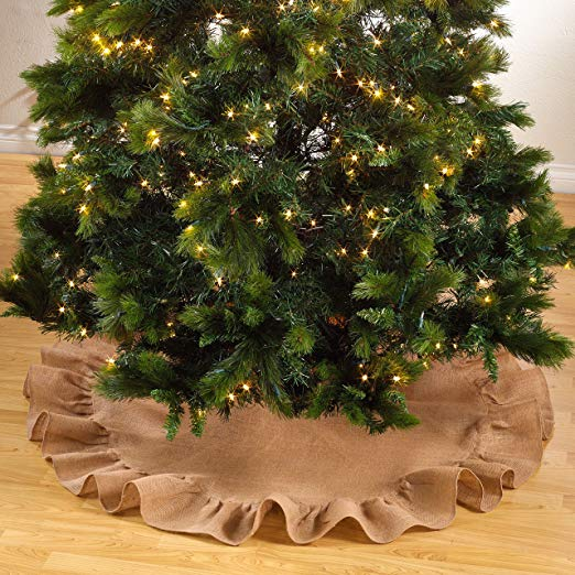Simple Burlap Tree Skirt