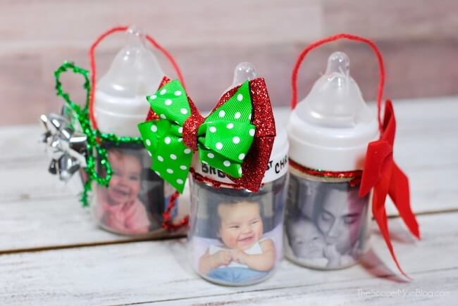 Baby Bottle Photo Ornament (with Video)