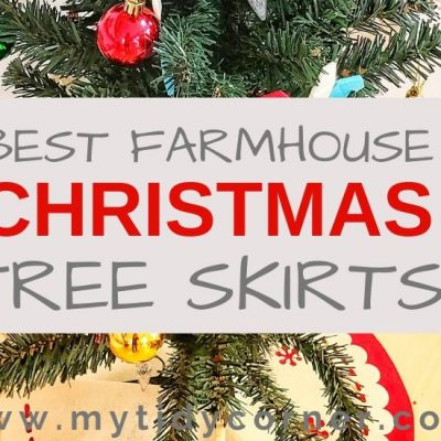 12 Farmhouse Christmas Tree Skirts