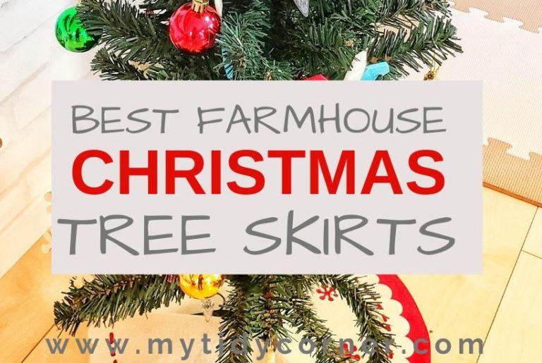 Best farmhouse Christmas tree skirts