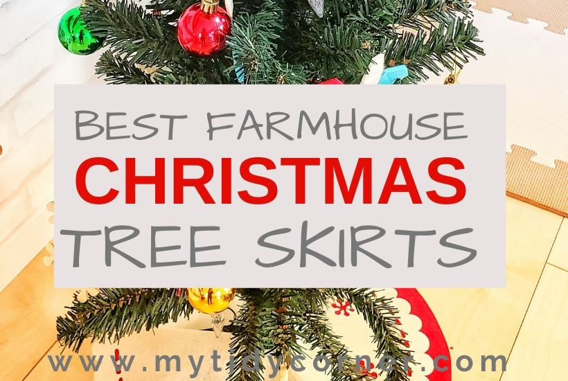 Best farmhouse Christmas tree skirts