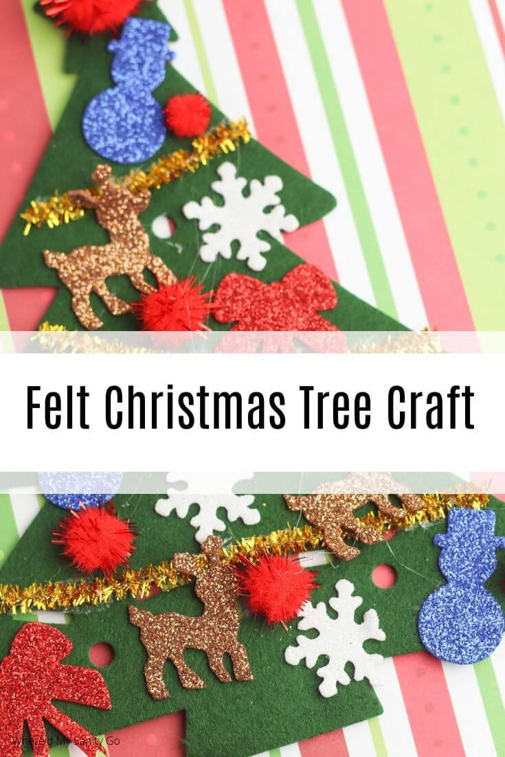 Easy Felt Christmas Tree Craft for Toddlers: Dollar Store Crafts