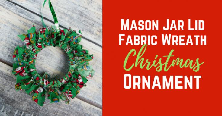 Mason Canning Jar Lid Christmas Wreath Ornament Craft
