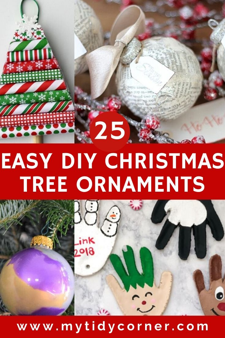 Easy DIY Christmas tree ornaments