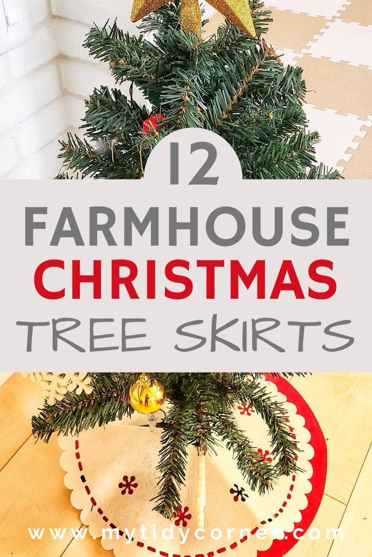 Rustic farmhouse Christmas tree skirts