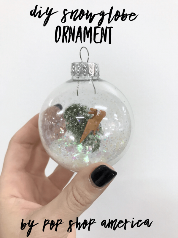 Make this DIY Snowglobe Ornament