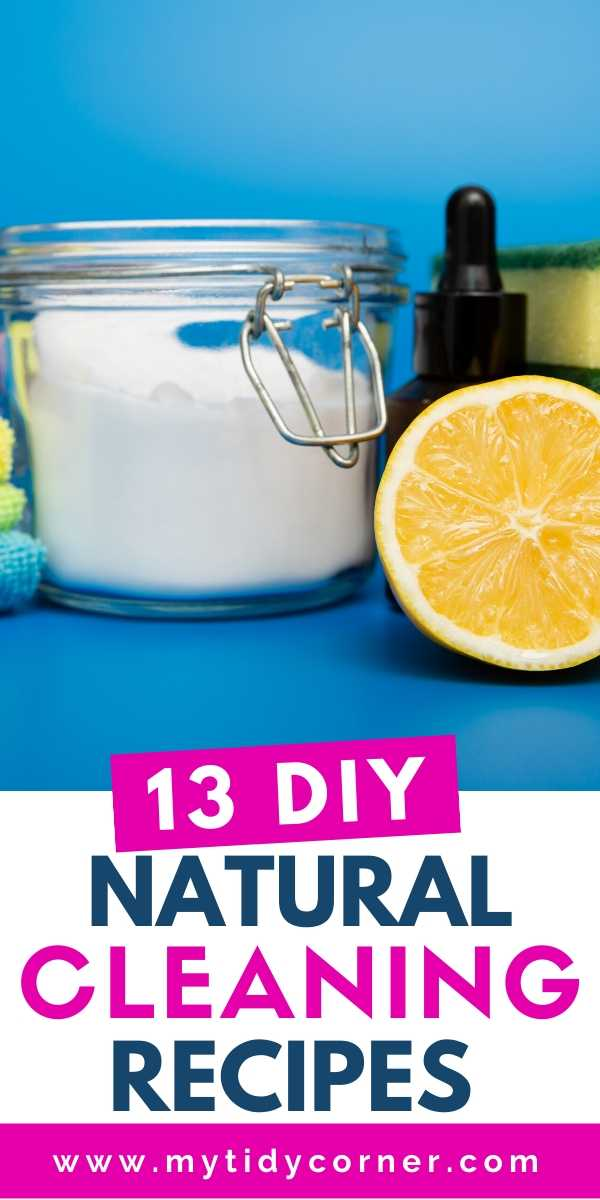 DIY cleaning products and recipes