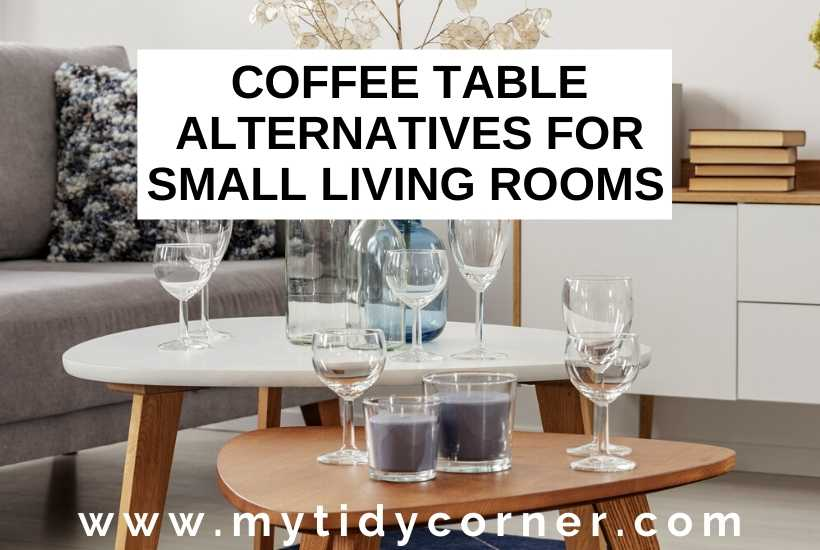 Coffee table alternatives for small spaces